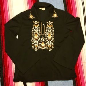 Vintage 70's Embroidered Top